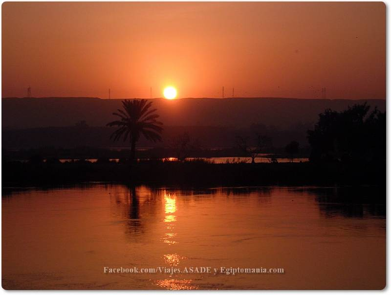 📷 Anochecer en el Nilo