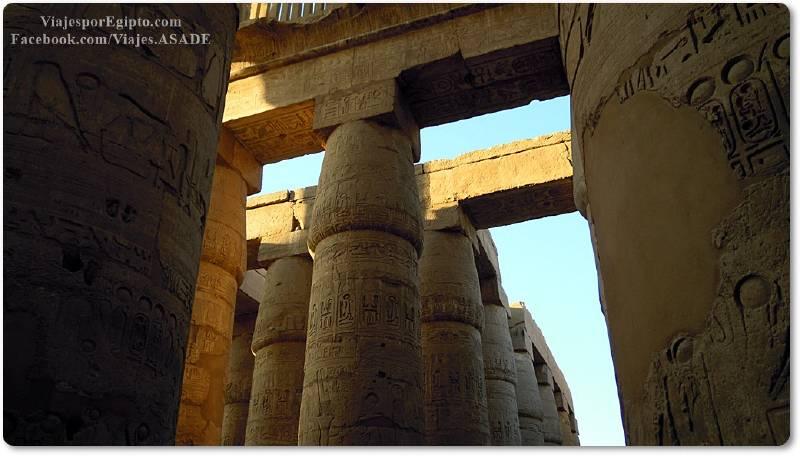 📷 Columnas del Templo de Karnak