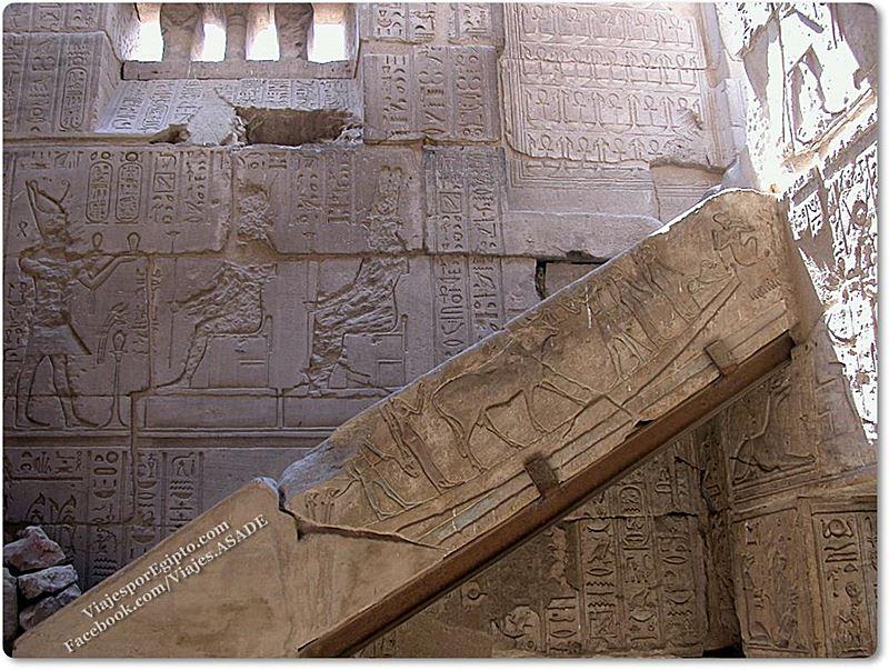 📷 Escalera en el Templo Tolemaico de Deir el Medina