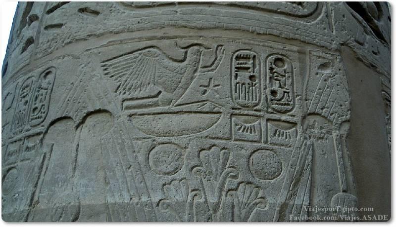 📷 Jeroglíficos para la gente en columna de Karnak