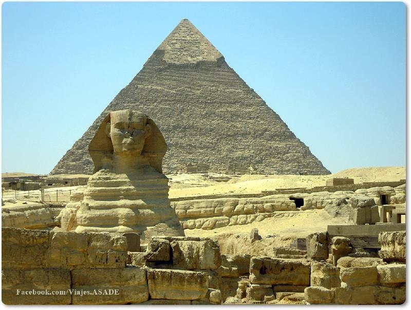 📷 Pirámide de Kefrén (Jafra) y Gran Esfinge