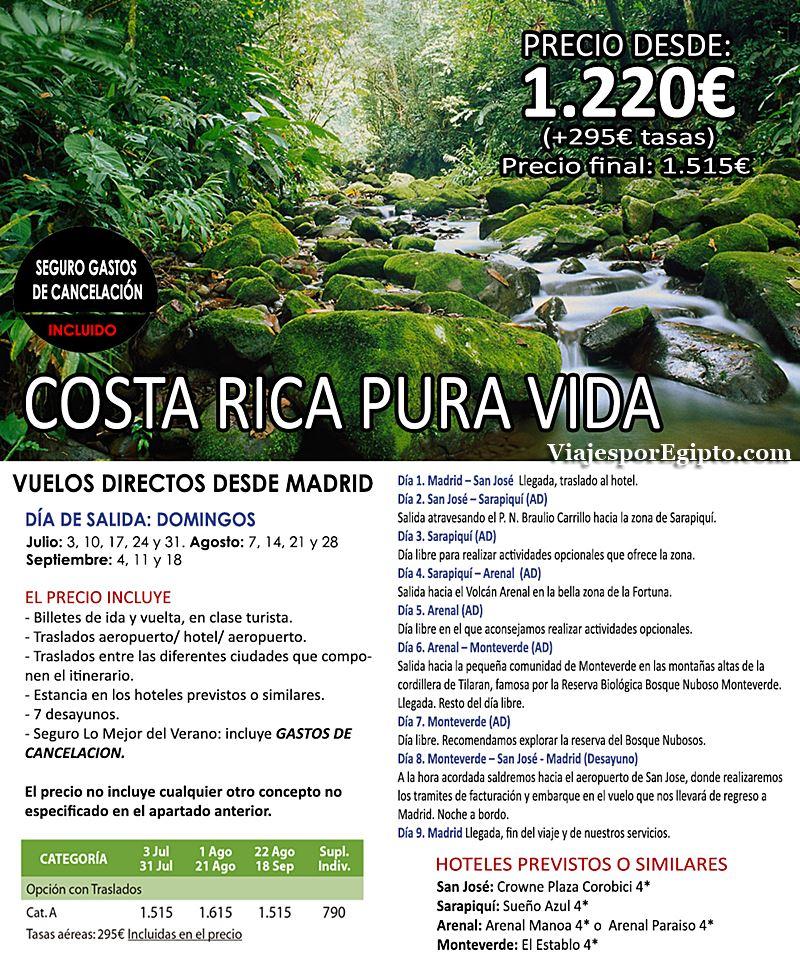 🌍 Viajes a Costa Rica | Vacaciones en Verano 2016