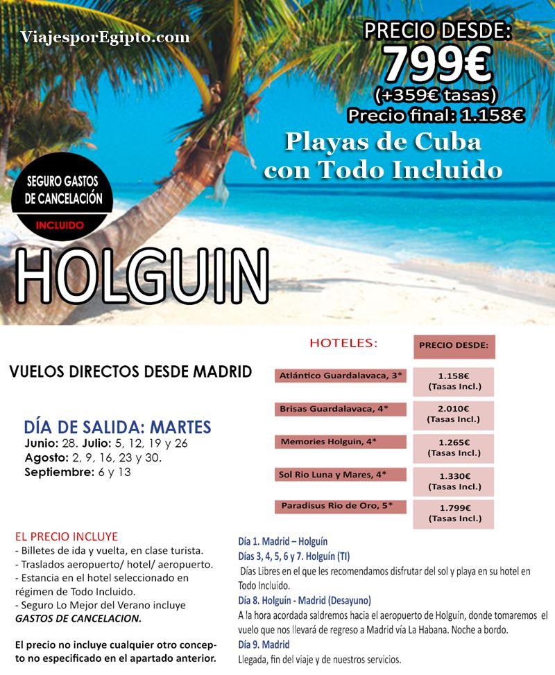 🌍 Viajes a Cuba Todo Incluido|Vacaciones en Holguín⇒Verano 2016