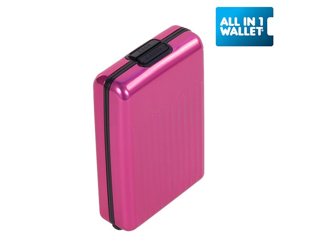 Cartera de Aluminio All In 1 Rosa