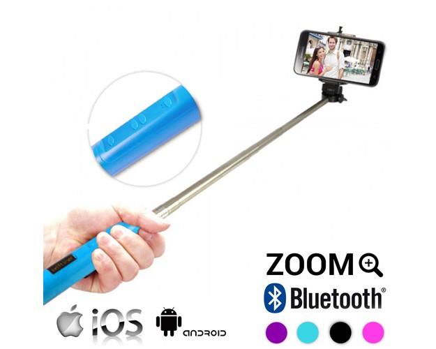 Palo de Selfie con Bluetooth y Zoom